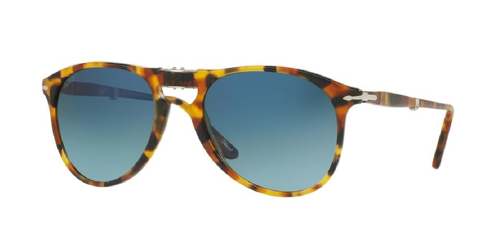 0f5a11a6649ab 7pm view of Persol Sunglasses - FOLDING AVIATOR ICONA PILOT PO9714S 1052S3  52 GOLD POLARIZED GRADIENT