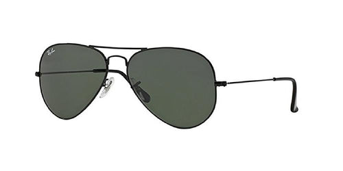 Ray Ban Aviator Sunglass shiny Black Green RB 3025 w3229