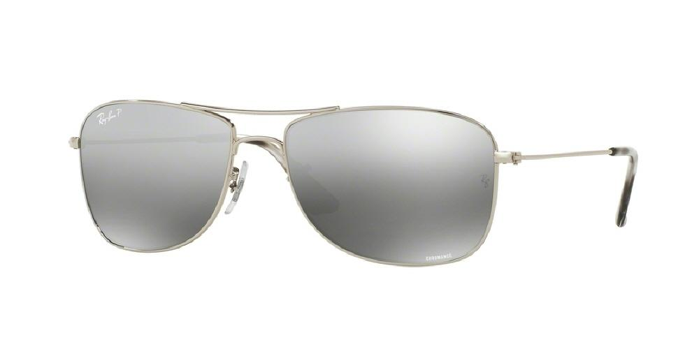 09b28d1e426bb Ray-Ban Sunglasses SHINY GREY MIRROR SILVER POLARIZED – Sunglass ...