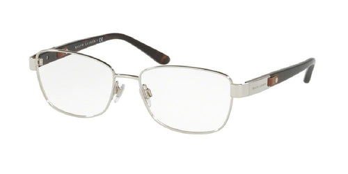 7pm view of Ralph Lauren Eyeglasses - CORE COLLECTION RL5096Q 9001 52 SILVER CLEAR DEMO LENS Women's Rectangle Full Rim