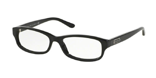 7pm view of Ralph Lauren Eyeglasses - CORE COLLECTION RL6130 5001 53 BLACK CLEAR DEMO LENS Women's Rectangle Full Rim