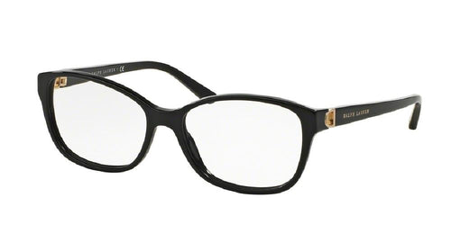 7pm view of Ralph Lauren Eyeglasses - CORE COLLECTION RL6136 5001 53 BLACK CLEAR DEMO LENS Women's Square Full Rim