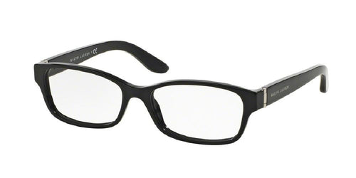 7pm view of Ralph Lauren Eyeglasses - CORE COLLECTION RL6139 5001 52 BLACK CLEAR DEMO LENS Women's Rectangle Full Rim