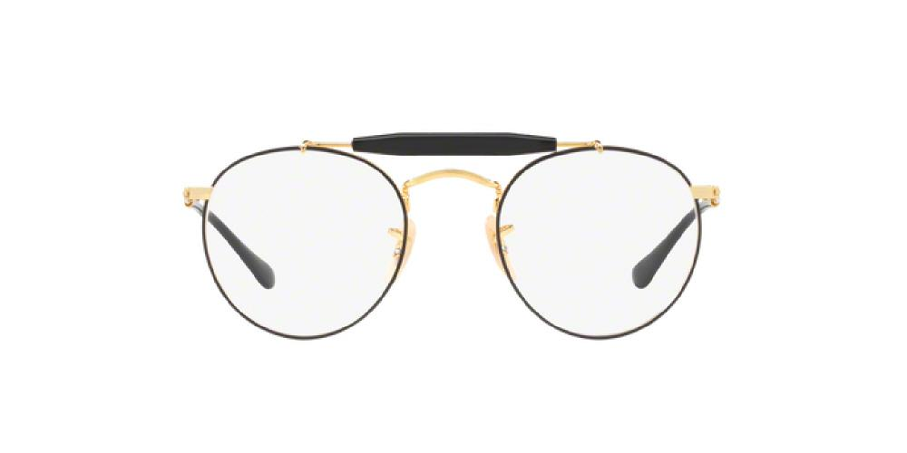 601a50e8f4f ... round eyeglasses frame rb3447v 5ad8b deb9a  best price 3pm view of ray  ban optical eyeglasses icons rx3747v 2946 50 gold top black