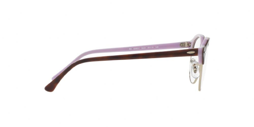 1cd8fedde7 12pm view of Ray-Ban Optical Eyeglasses - CLUBROUND ICONS RX4246V 5240 49  TOP TORTOISE