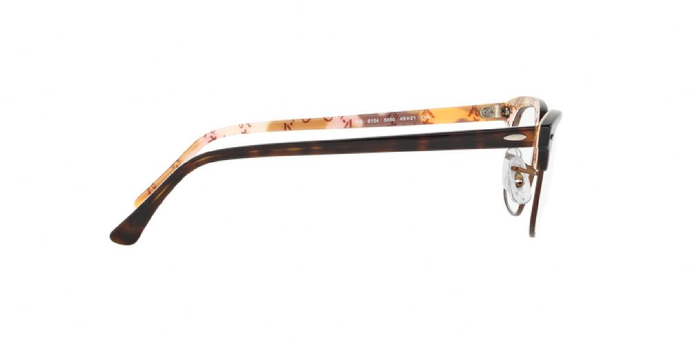 3594b1d2f6deea 12pm view of Ray-Ban Optical Eyeglasses - CLUBMASTER ICONS RX5154 5650 51  TORTOISE HAVANA