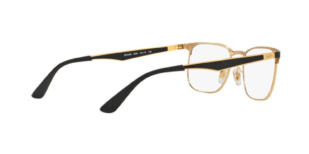 5176047ab9 1pm view of Ray-Ban Optical Eyeglasses - ACTIVE RX6363 2890 52 GOLD TOP ON