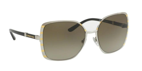 Right Pivot View of Tory Burch 0TY6055 320413 57 SILVER GOLD SMOKE GREY GRADIENT Square Sunglasses