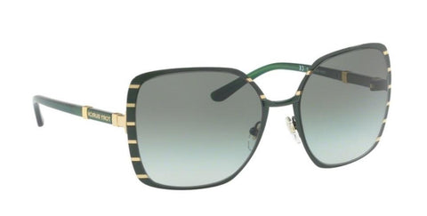 Right Pivot View of Tory Burch 0TY6055 32278E 57 NORWOOD GREEN GOLD GREEN GRADIENT Square Sunglasses