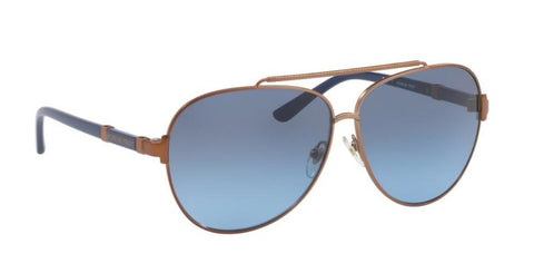 Right Pivot View of Tory Burch 0TY6056 32378F 59 BRONZE NAVY GRADIENT Pilot Sunglasses