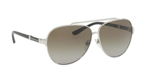 Right Pivot View of Tory Burch 0TY6056 323813 59 SILVER SMOKE GREY GRADIENT Pilot Sunglasses