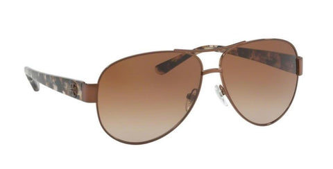 Right Pivot View of Tory Burch 0TY6057 324213 60 BRONZE AMBER BROWN GRADIENT Pilot Sunglasses