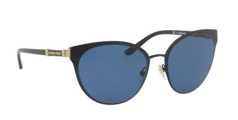 Right Pivot View of Tory Burch 0TY6058 307980 55 BLACK NAVY SOLID Cat Eye Sunglasses