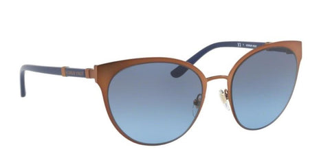 Right Pivot View of Tory Burch 0TY6058 32378F 55 BRONZE NAVY BLUE GRADIENT Cat Eye Sunglasses
