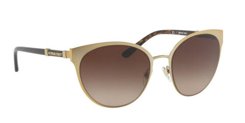 Right Pivot View of Tory Burch 0TY6058 324013 55 GOLD DARK BROWN GRADIENT Cat Eye Sunglasses