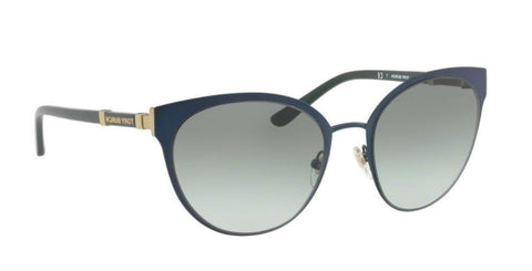 Right Pivot View of Tory Burch 0TY6058 32448E 55 NAVY BLUE GREEN GRADIENT Cat Eye Sunglasses