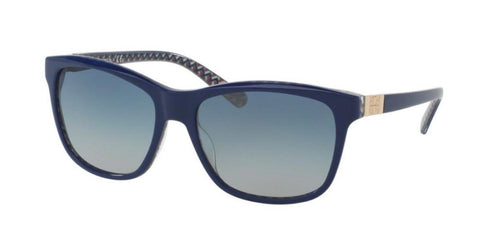 Left Pivot View of Tory Burch 0TY7031 16554L 57 NAVY ZIG ZAG BLUE GRADIENT CLASSIC (TY) Square Sunglasses