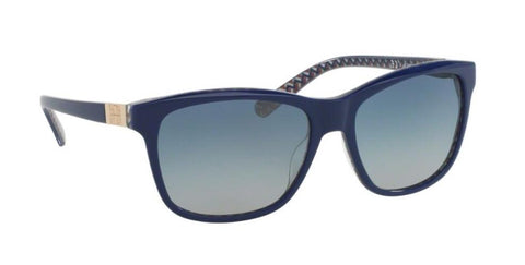 Right Pivot View of Tory Burch 0TY7031 16554L 57 NAVY ZIG ZAG BLUE GRADIENT CLASSIC (TY) Square Sunglasses
