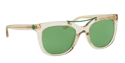 Right Pivot View of Tory Burch 0TY7105 11802 53 CHAMPAGNE GREEN SOLID Square Sunglasses