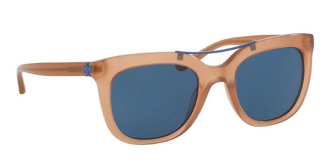 Right Pivot View of Tory Burch 0TY7105 166480 53 CORAL BLUE SOLID Square Sunglasses
