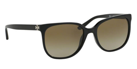 Right Pivot View of Tory Burch 0TY7106 137713 57 BLACK DARK BROWN GRADIENT Square Sunglasses