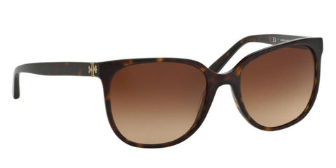 Right Pivot View of Tory Burch 0TY7106 137813 57 DARK TORTOISE BROWN GRADIENT Square Sunglasses