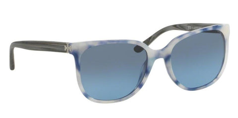 Right Pivot View of Tory Burch 0TY7106 16528F 57 BLUE MOONSTONE BLUE GRADIENT Square Sunglasses