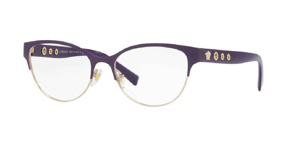 f6c763cdf5 7pm view of Versace Eyeglasses - ROCK ICONS VE1237 1383 53 VIOLET PURPLE  PALE GOLD CLEAR