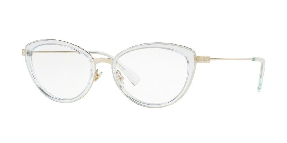 5112beed059e5 7pm view of Versace Eyeglasses - FUN ABOUT TOWN CAT EYE VE1244 1405 53 PALE  GOLD