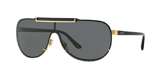 7pm view of Versace Sunglasses - ROCK ICONS AVIATOR VE2140 100287 40 GOLD GRAY Men's Full Rim