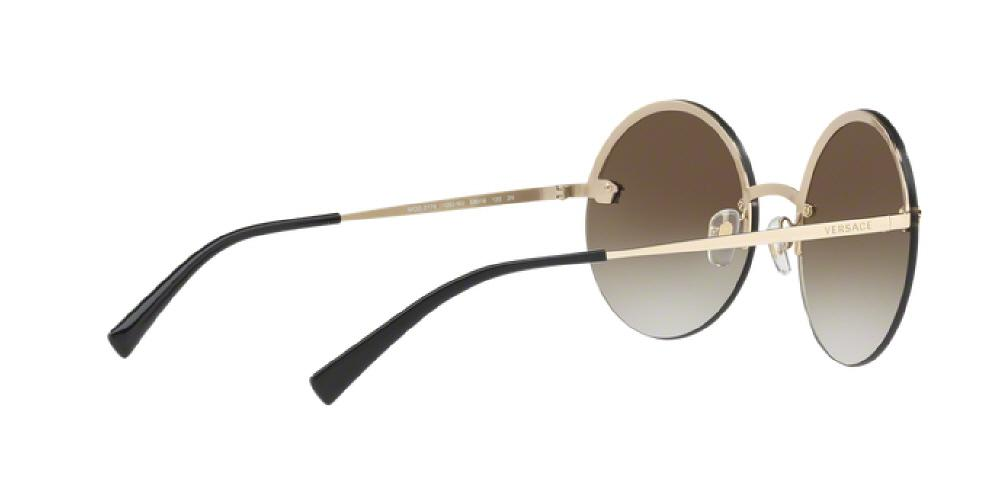 1e37a6d91f 1pm view of Versace Sunglasses - FUN ABOUT TOWN ROUND VE2176 12526U 59 GOLD  MIRROR GRADIENT