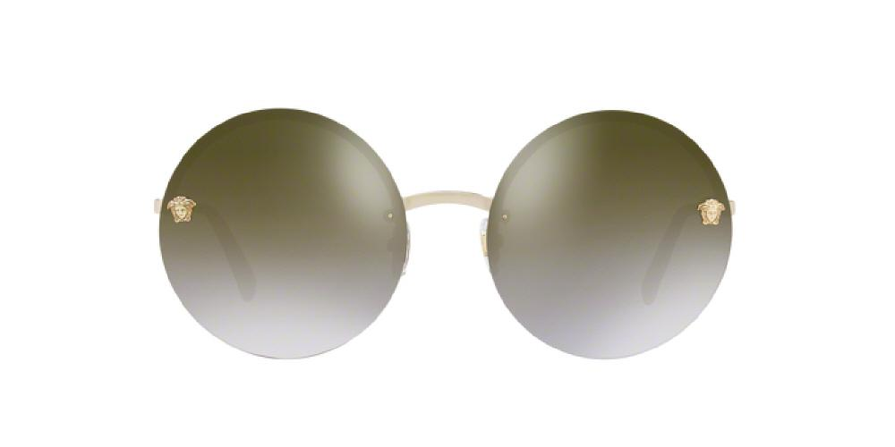 47c562360470 3pm view of Versace Sunglasses - FUN ABOUT TOWN ROUND VE2176 12526U 59 GOLD  MIRROR GRADIENT