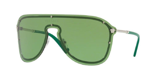 7pm view of Versace Sunglasses - AVIATOR VE2180 1000/2 44 SILVER GREEN Women's Rimless