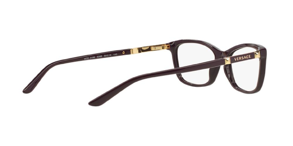 d2e7bb953868 1pm view of Versace Eyeglasses - POP CHIC CAT EYE VE3186 5066 54 EGGPLANT  PURPLE CLEAR
