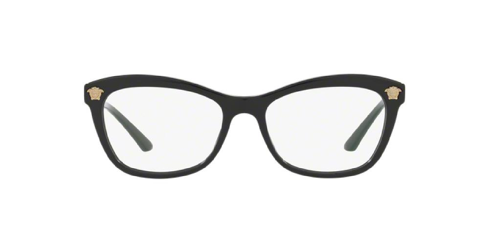 79fb8e62745 3pm view of Versace Eyeglasses - ROCK ICONS CAT EYE VE3224 GB1 52 BLACK  CLEAR DEMO