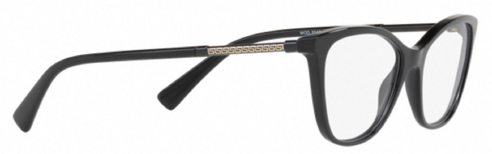 765e468af419 3pm view of Versace Eyeglasses - FUN ABOUT TOWN CAT EYE VE3248 GB1 52 BLACK  CLEAR