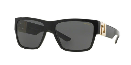 7pm view of Versace Sunglasses - ROCK ICONS VE4296 GB1/81 59 BLACK POLARIZED GREY Men's Square Full Rim