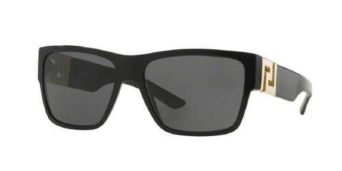 7pm view of Versace Sunglasses - ROCK ICONS VE4296 GB1/87 59 BLACK GRAY Men's Square Full Rim