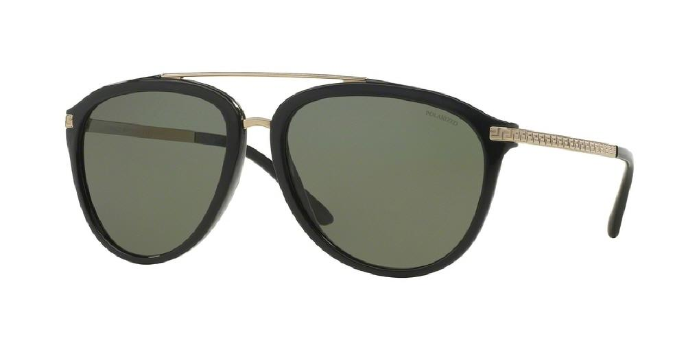 1d381096a9 7pm view of Versace Sunglasses - POP CHIC AVIATOR VE4299 GB1 9A 58 BLACK  POLARIZED