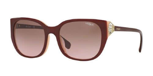 7pm view of Vogue Sunglasses - TIMELESS VO5061BF 232314 55 GRADIENT TOP BORDEAUX RED OPAL PINK CRYSTAL Women's Square Full Rim