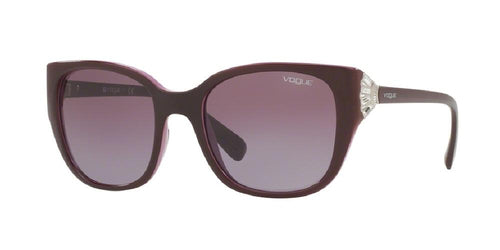 7pm view of Vogue Sunglasses - TIMELESS VO5061SB 23218H 53 GRADIENT TOP EGGPLANT PURPLE ON PINK CRYSTAL VIOLET Women's Square Full Rim