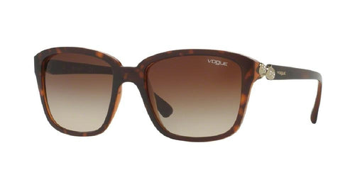7pm view of Vogue Sunglasses - TIMELESS VO5093SB 238613 54 GRADIENT TOP DARK TORTOISE HAVANA BROWN CRYSTAL Women's Square Full Rim