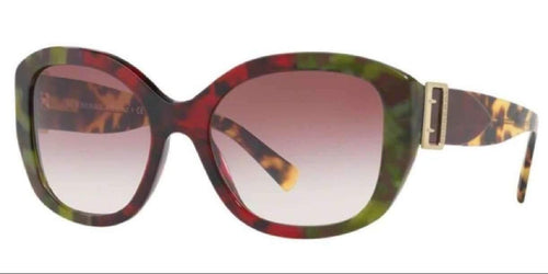 Burberry BE 4248F 36388H 57 HAVANA GREEN BORDEAUX BORDO RED VIOLET PURPLE GRADIENT