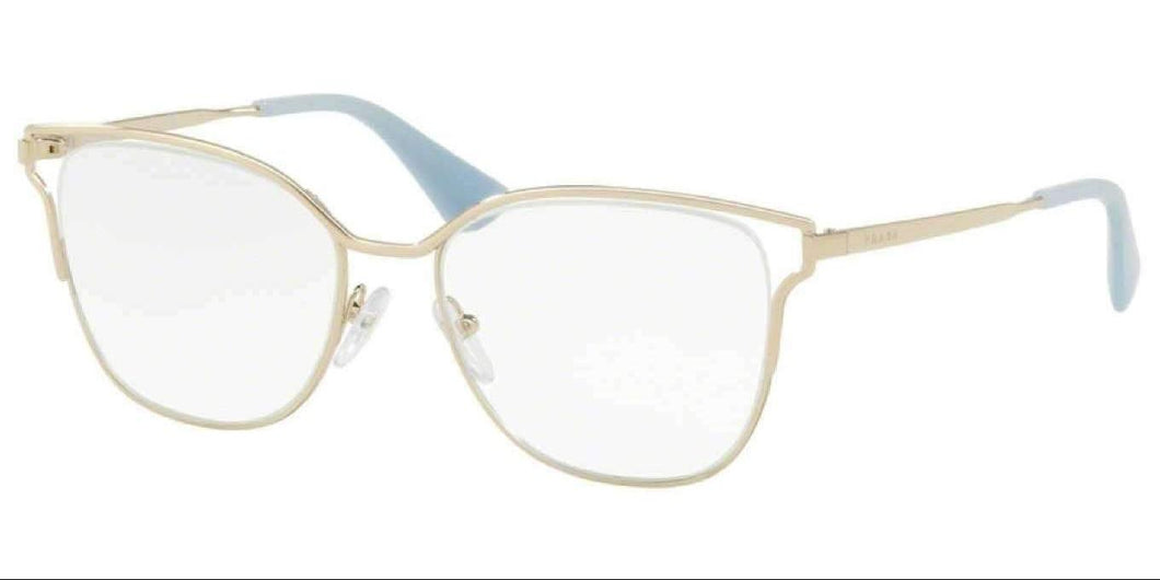 Prada PR 54UV ZVN1O1 53 PALE GOLD Phantos Eyeglasses