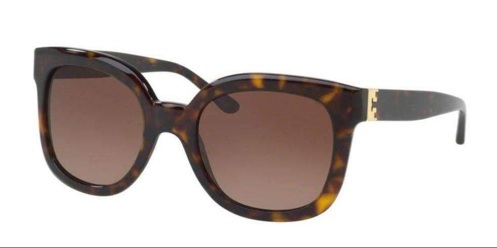 Tory Burch 0TY7104 1378T5 54 DARK TORTOISE POLARIZED BROWN GRADIENT TORY BURCH Square Sunglasses