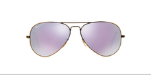 Ray Ban Aviator Sunglass Brushed Bronze Lilac Mirrored Polarized RB 3025 167/1R