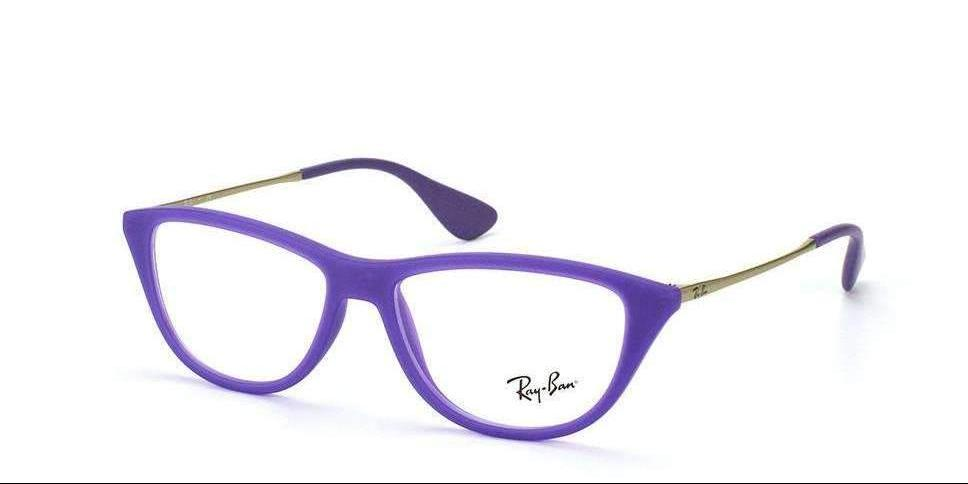Ray Ban Purple Eyeglass Frames RB7042 5470 Size 52mm