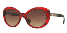 Versace VE 4318 520313 55 mm Transparent Striped Red Brown Gradient