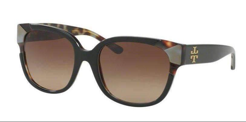 Tory Burch TY7096A 159713 55 mm Black Putty Tortoise Brown Gradient