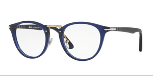 Persol Eyeglasses PO3107V 181 49 mm Transparent Blue unisex